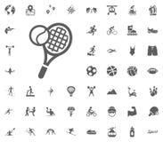 Tennis icon. Sport illustration vector set icons. Set of 48 sport icons. Tennis icon. Sport illustration vector set icons. Set of 48 sport icons Stock Photo