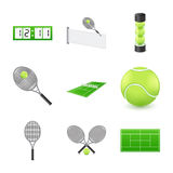 Tennis icons. Set of nine Tennis icons Royalty Free Stock Photos