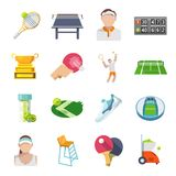 Tennis Icons Flat Set Royalty Free Stock Image