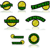 Tennis icons Stock Image