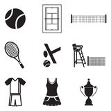Tennis Icons Royalty Free Stock Images