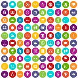 100 tennis icons set color Royalty Free Stock Photos