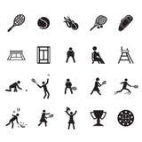 Tennis icons set. Vector Royalty Free Stock Photo