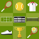Tennis icons set Royalty Free Stock Photography