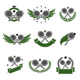 Tennis icons set. Vector Royalty Free Stock Image