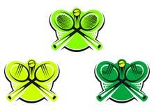 Tennis icons and symbols Stock Photos
