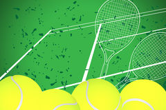 Tennis illustration Royalty Free Stock Photo