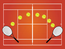 Tennis Illustration Clay Stock Photo