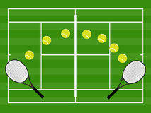 Tennis Illustration Grass Royalty Free Stock Photography