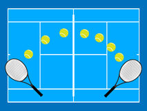 Tennis Illustration Hard Court Stock Photos