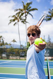 Tennis im Paradies Stockbilder