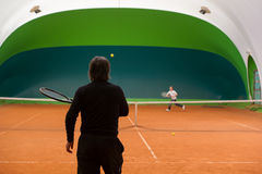 Tennis instructor Stock Images