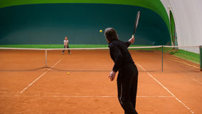 Tennis instructor Stock Photo