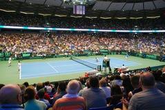 tennis israélien d'équipe de service de davis de 2009 cuvettes Images libres de droits