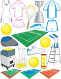 Tennis Items Stock Photo