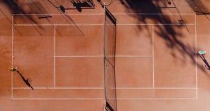 Tennis jonge spelers stock foto's