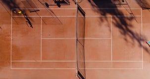 Tennis jonge spelers royalty-vrije stock afbeeldingen