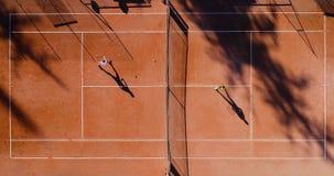 Tennis jonge spelers royalty-vrije stock afbeelding
