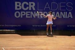 Tennis jump Stock Photography