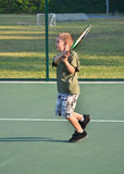 Tennis-Junge Stockfotos