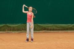 Tennis kid tournament Stock Image