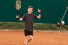Tennis kid tournament Royalty Free Stock Images
