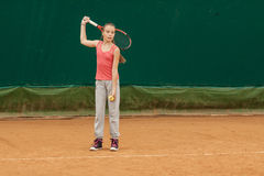 Tennis kid tournament Stock Image