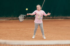 Tennis kid tournament Royalty Free Stock Photography