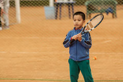 Tennis kid tournament Royalty Free Stock Photo