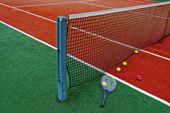 Tennis klumpa ihop sig & Racket-7 Royaltyfri Fotografi