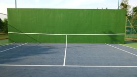 Tennis knock board. On a sunny day royalty free stock photo