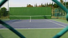 Tennis knock board. On a sunny day stock photos