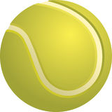 Tennis-Kugel getrennt Lizenzfreie Stockbilder