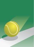 Tennis-Kugel im Flug Stockfoto