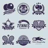 Tennis Label Black Royalty Free Stock Photography