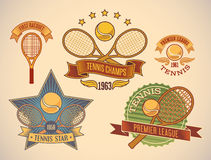 Tennis labels Royalty Free Stock Photos