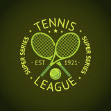 Tennis League super series label badge for your club. Vector Royalty Free Stock Images