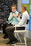 Tennis legend and Grand Slam Champion Billie Jean King during press conference at Billie Jean King National Tennis Center Royalty Free Stock Image