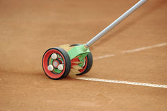 Tennis Line brush machine Stock Images