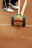 Tennis Line brush machine Royalty Free Stock Image