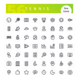 Tennis Line Icons Set Royalty Free Stock Images