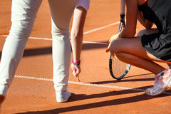 Tennis-Linie Richter Stockfotos