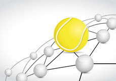 Tennis link sphere network connection concept Stock Images