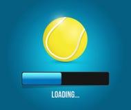 Tennis loading bar illustration design Stock Photos