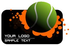 Tennis logo Royalty Free Stock Image