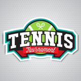 Tennis  logo, badge, design template Stock Photography