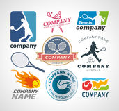 Tennis logo design elements Stock Photos