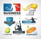 Tennis logo design elements. EPS 10 Vector set of tennis logo design elements. Custom on request Stock Images
