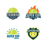 Tennis logo set Stock Photo