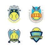 Tennis logo set Stock Photography